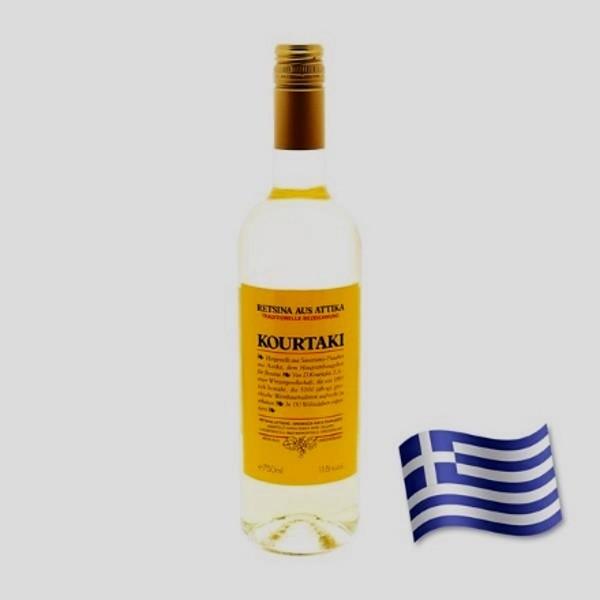 Kourtaki vin résiné 11.5% vol. bouteille 75 cl